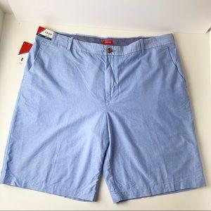 Izod Mens Newport Oxford Blue Shorts, Size 42